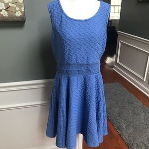 [American Rag] quilted blue dress